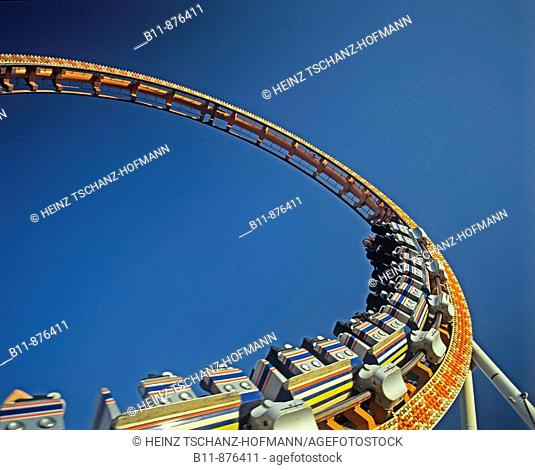 looping at a roller coaster