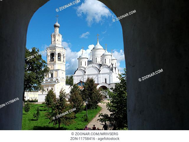 Vologda, Russia,August 17, 2013, view from the window to the Spaso-Prilutsky monastery