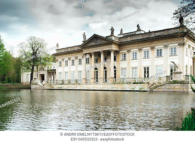 Ancient palace and park ensemble of Lazienki in Warsaw Poland