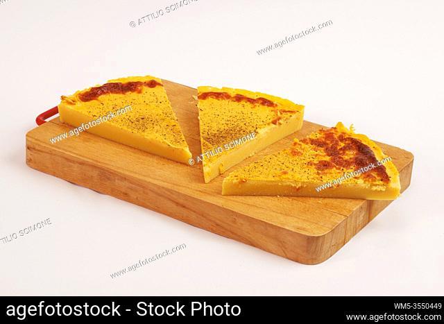 Fried chickpea polenta. Sicilian food