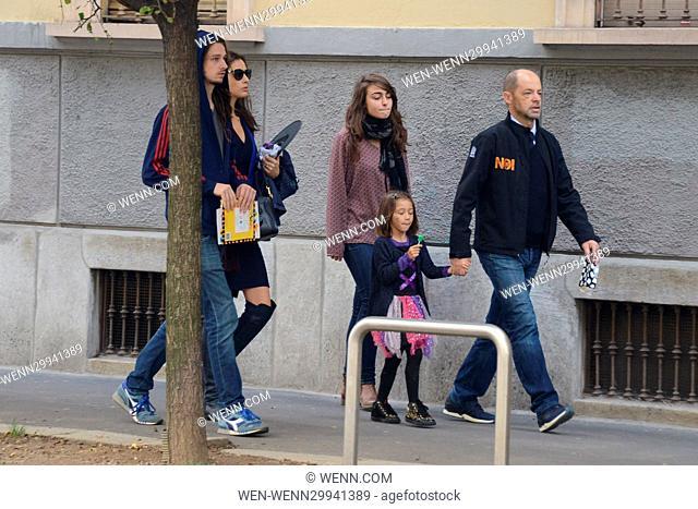 Eros Ramazzotti celebrates his birthday in Milan Featuring: Marica Pellegrinelli, Raffaela Maria Ramazzotti Where: Milan, Italy When: 28 Oct 2016 Credit: WENN