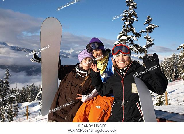 Friends on Whistler Mountain, British Columbia, Canada