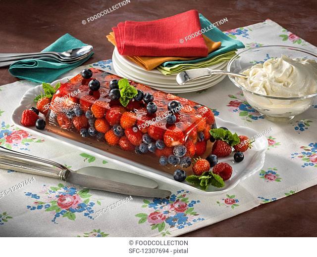Summer berry terrine