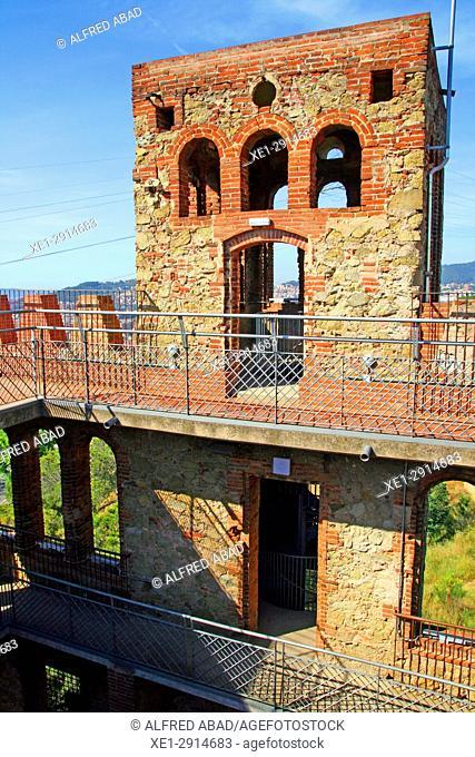 Castle of Torre Baro, Barcelona, Catalonia, Spain