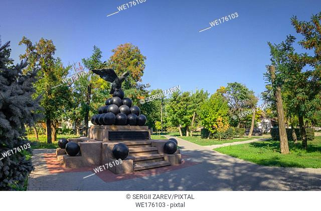 Monument to the brigadier Gorich, hero of the Russian-Turkish war 1787