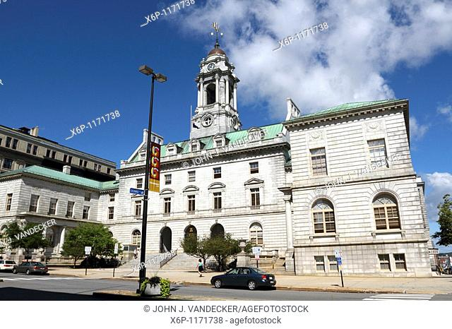 Portland City Hall, Portland, Maine, USA  The building was designed in the French Renaissance style by the New York firm of Carrere and Hastings
