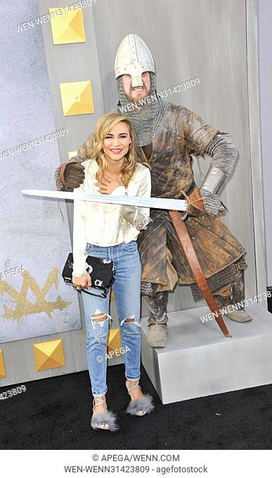 Premiere King Arthur Legend of the Sword Featuring: Samaire Armstrong Where: Los Angeles, California, United States When: 09 May 2017 Credit: Apega/WENN
