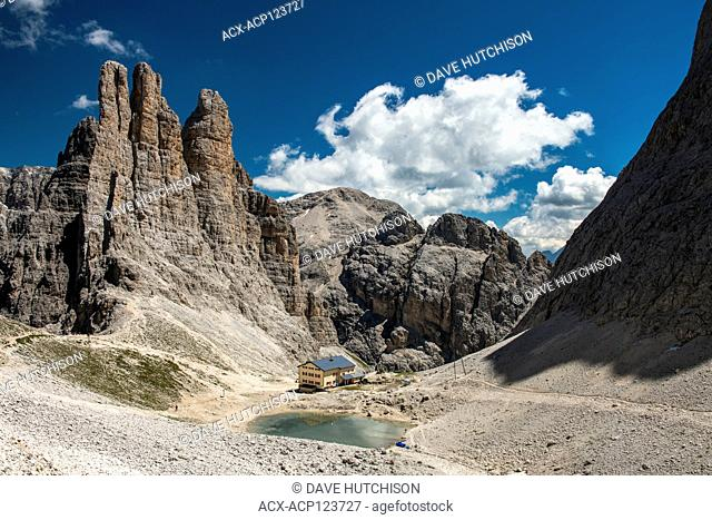 Vajolet Towers (Torri del Vajolet), Rifugio Alberto, Trento, Dolomites, Northern Italy