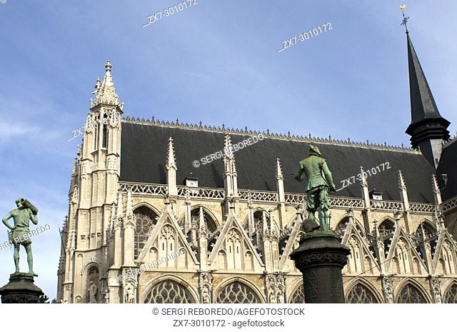 Church of Our Blessed Lady of the Sablon (Onze-Lieve-Vrouw ten Zavel/Notre-Dame du Sablon) in Brussels, Belgium