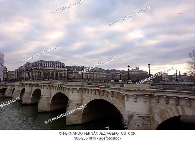 Pont Neuf. River Seine. Paris. France. Europe