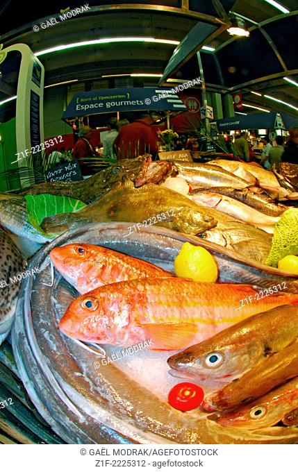 Fish market in the Paris annual International Agricultural Show