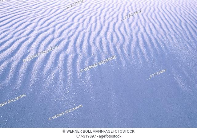 Sand dunes. White Sands National Monument. New Mexico. USA
