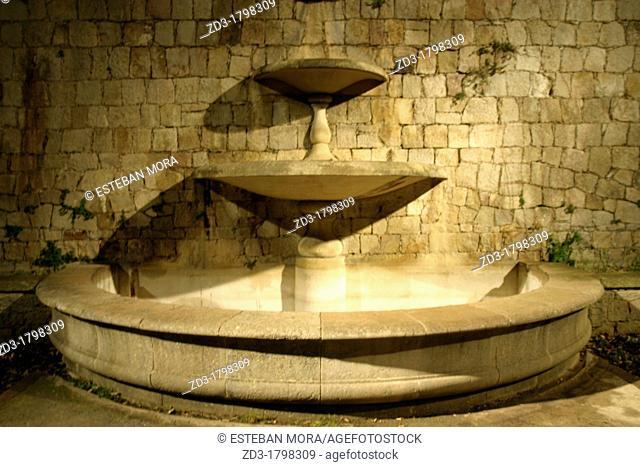 Decorative fountain in Montjuic, Barcelona, Catalonia, Spain