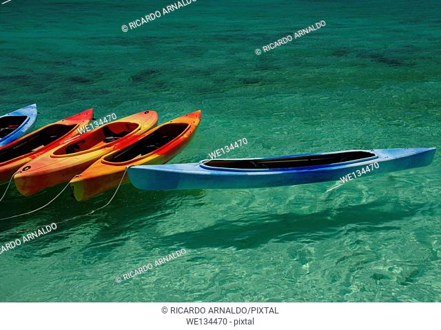 Kayaks in the Florida Keys