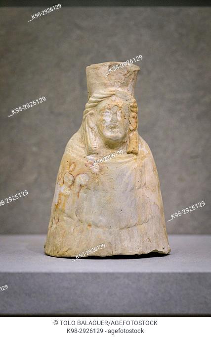 Tanit goddess, Ibiza and Formentera Archeological Museum, Patrimonio de la Humanidad «Ibiza, biodiversidad y cultura», Ibiza, Balearic Islands, Spain