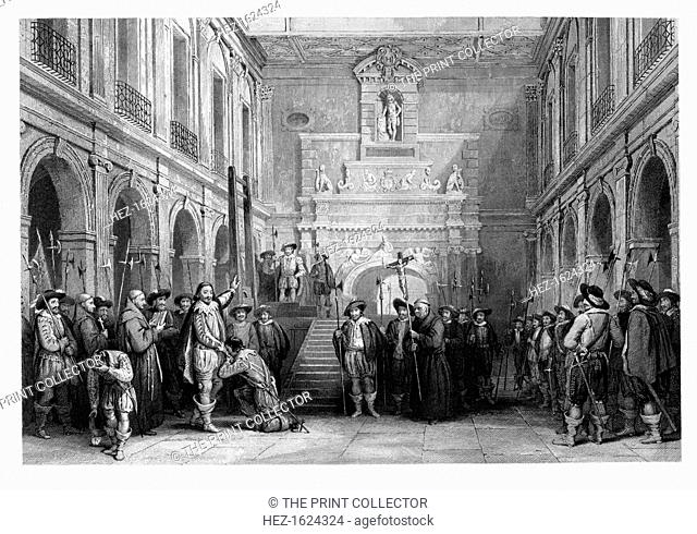 The Execution of Montmorenci, Court of the Hotel De Ville, Toulouse, 1632, (1860)