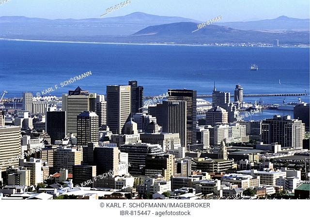 View of office towers, skyscrapers in the city centre of Cape Town, Table Bay, Cape Province, South Africa