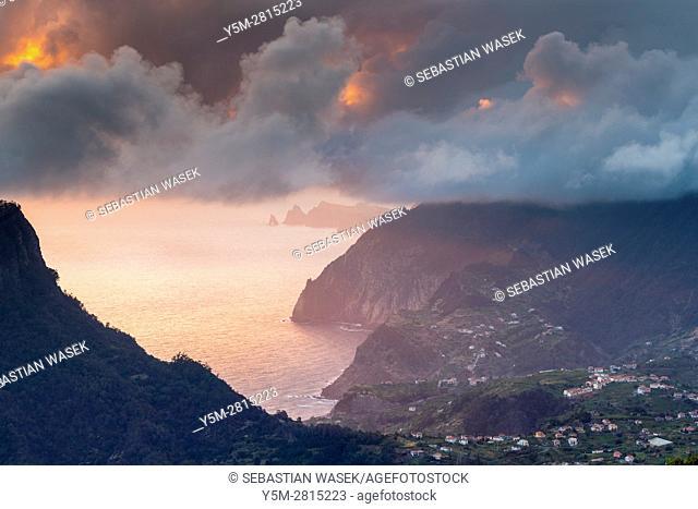 North Coast of Madeira seen from Pico Das Pedras, Eiras, Madeira, Portugal