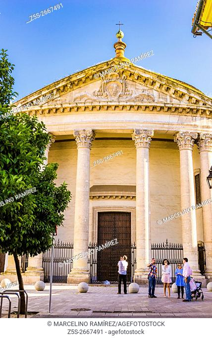Facade of the Church of the College of Santa Victoria. Córdoba, Andalusia, Spain, Europe