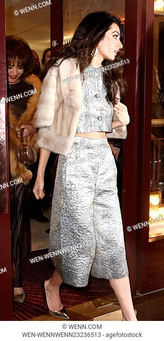 Charlotte Tilbury's 'Naughty Christmas Party' flagship store launch Featuring: Amal Clooney Where: London, United Kingdom When: 04 Dec 2015 Credit: WENN