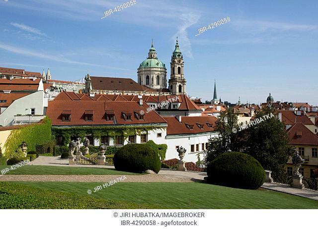 Vrtba Garden, Baroque gardens, Baroque gardens, UNESCO World Heritage Site, behind church St. Nicolaus, Lesser Town, Prague, Czech Republic
