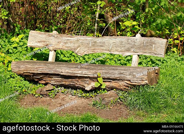 Old bench, Fischerhude, Lower Saxony, Germany, Europe