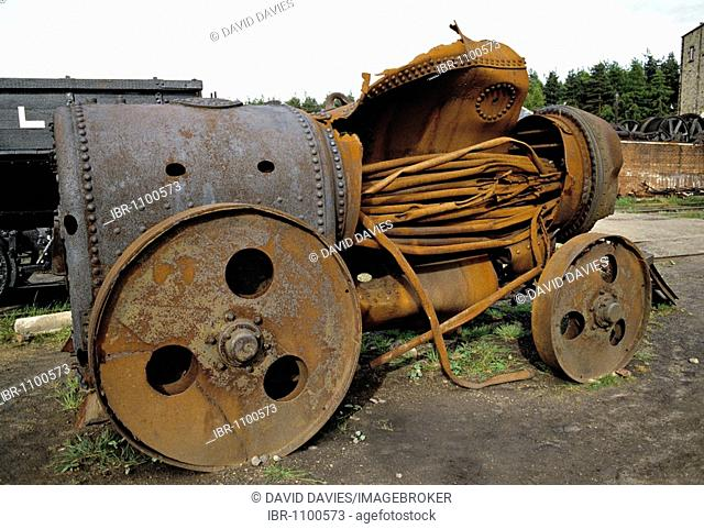 Burst boiler on steam traction engine, United Kingdom