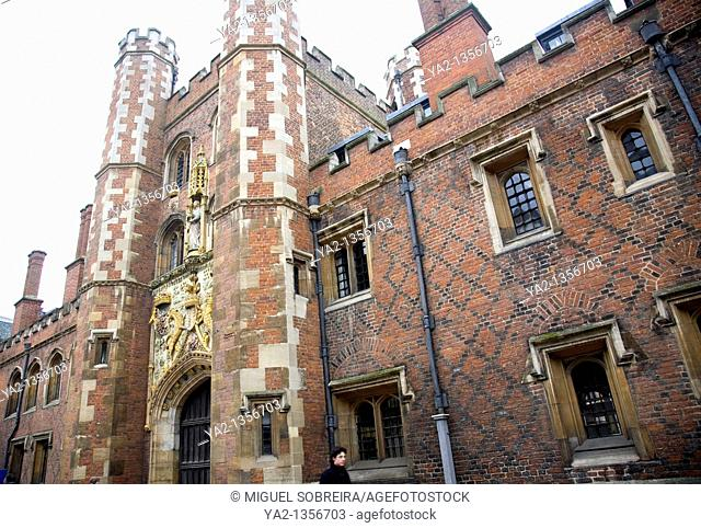 St Johns College Gate in Cambridge
