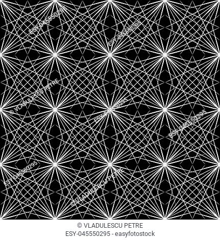 white lines on black background