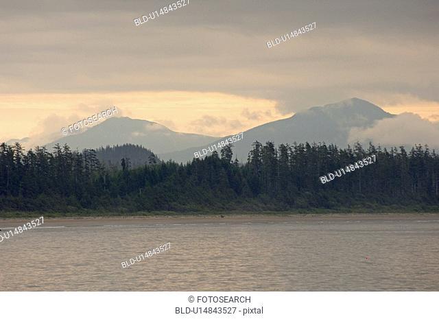 Seascape view at sunrise, Pacific Rim National Park, Vancouver Island, Canada