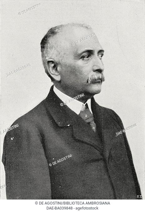 Achille Tedeschi (1857-1911), Italian poet and writer, from L'Illustrazione Italiana, Year XXXVIII, No 51, December 17, 1911