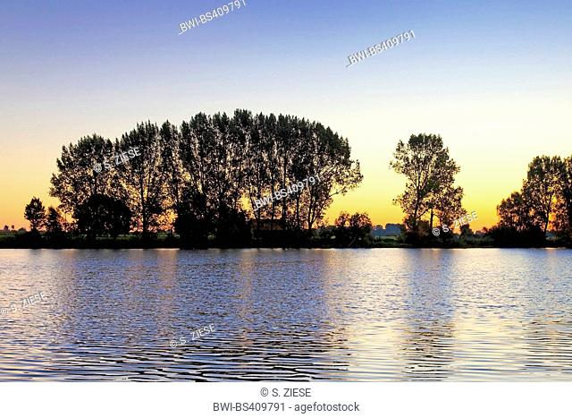 Old Rhine near Androp, Germany, North Rhine-Westphalia, Lower Rhine, Rees
