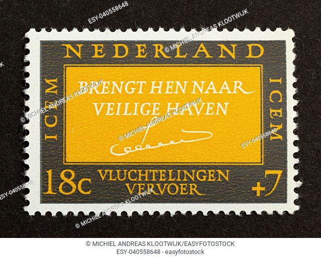 HOLLAND - CIRCA 1960: Stamp printed in the Netherlands shows it's value, circa 1960