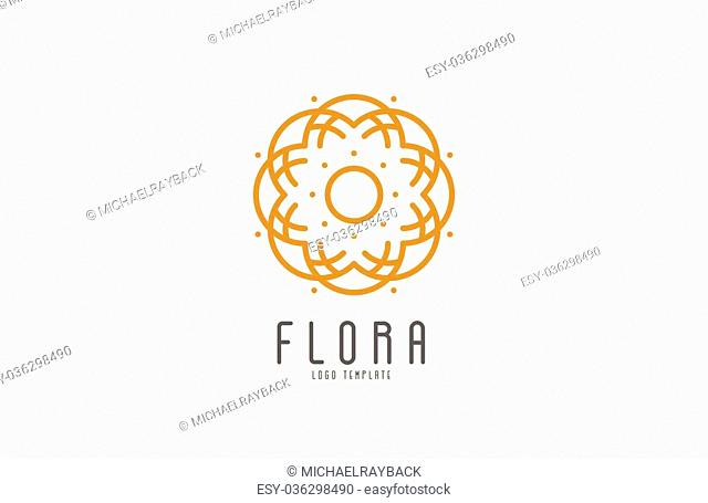 Abstract elegant flower logo icon vector design. Universal creative premium symbol. Graceful jewel vector sign
