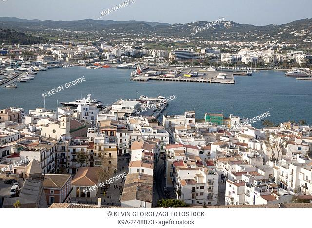 View of Ibiza Harbor, Balearic Islands, Spain