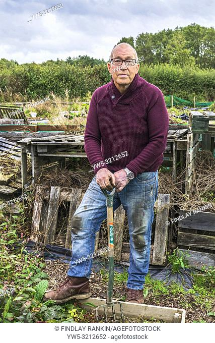 Raymond Paxton, Plot 16 at Eglinton Growers allotments, Kilwinning, Ayrshire, Scotland