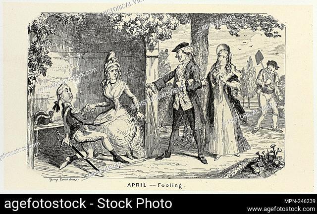 April - Fooling from George Cruikshank's Steel Etchings to The Comic Almanacks: 1835-1853 - 1839, printed c. 1880 - George Cruikshank (English