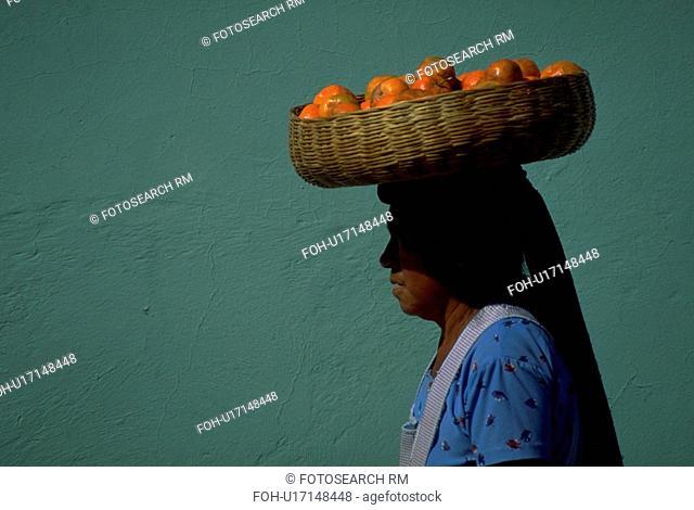 wearing, people, female, guatemalian, fruit, woman
