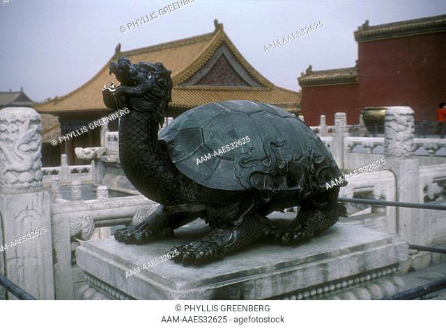 Bronze Turtle Sculpture In Forbidden City Beijing China