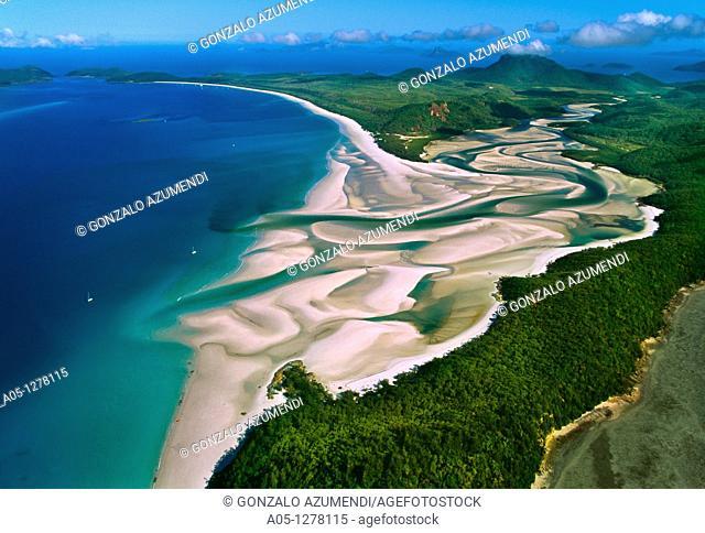Whitehaven Beach.Whitesunday Islands. Great Barrier Reef. Australia