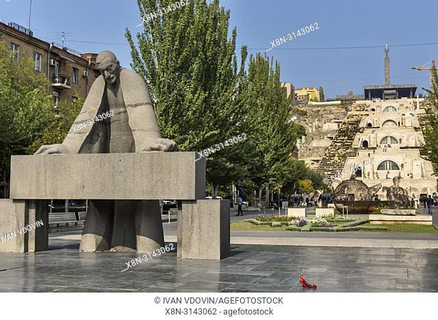 Sculpture, Armenia cascade, Yerevan, Armenia