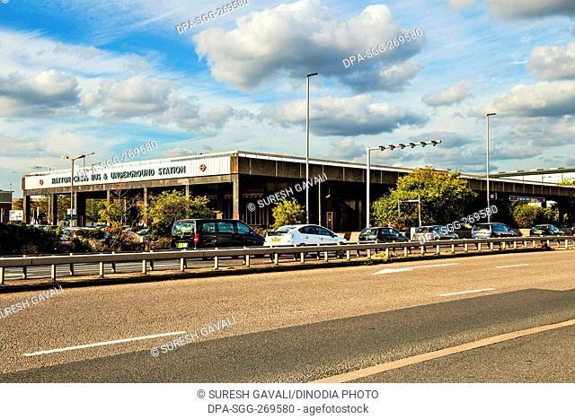 Hatton Cross bus and underground station, Heathrow Airport, UK, United Kingdom