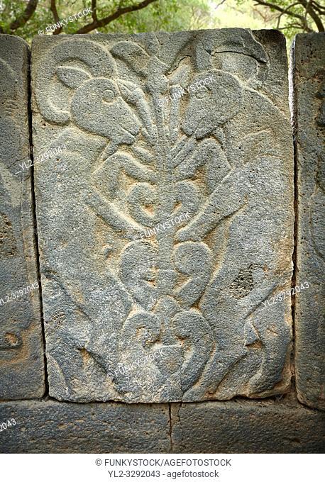 Pictures & images of the North Gate Hittite sculpture stele depicting Hittite Gods. 8th century BC. Karatepe Aslantas Open-Air Museum (Karatepe-AslantaŠŸ Açık...