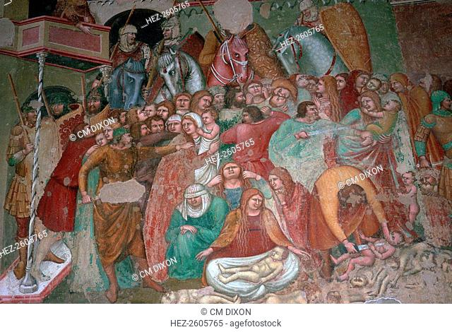 Fresco of the massacre of the innocents in the church of St Agostino, 15th century