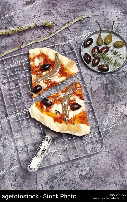 pizza de anchoas / anchovy pizza