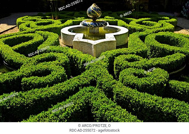 Knot Garden Sudeley Castle near Winchcombe Gloucestershire England hedges