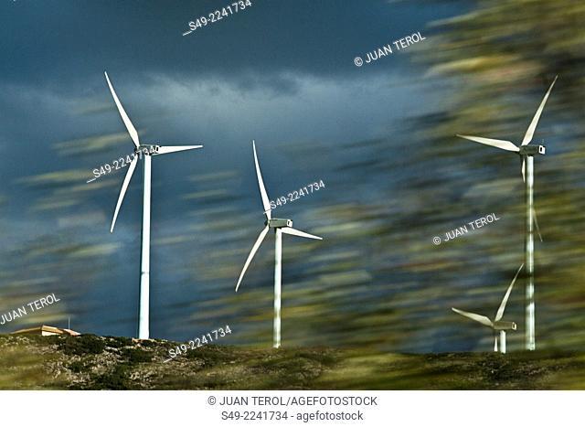 Wind turbines Albacete Castilla-La Mancha Spain