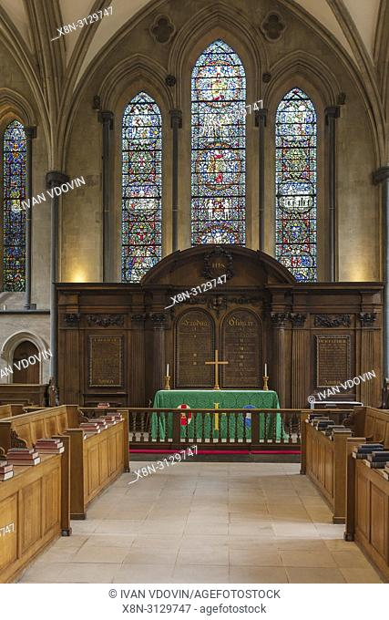 Temple Church interior, London, England, UK