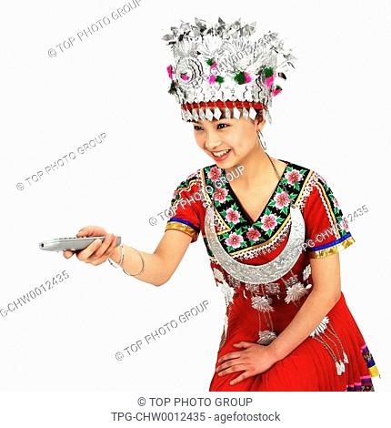 a girl of Miao Minority