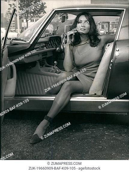 Sep. 09, 1966 - Italian Actress who plays a bikini girl in peter sellers' new film After the fox' arrives here. Maria Grazia Buccella, from Rome